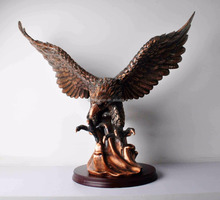 life size bronze eagle outdoor animal sculpture for home decor