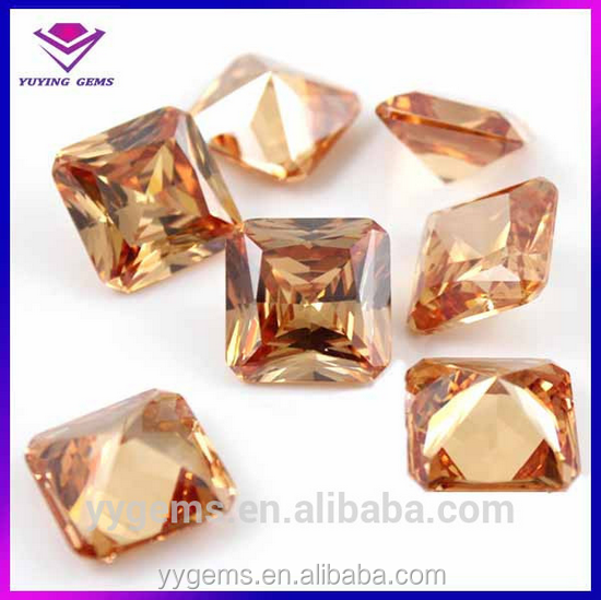 watch jewelry cz stone square cut synthetic diamond in stock