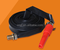 PVC layflat imperial sizes hose, lay flat pvc hose pipe