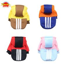 RoblionPet Various Color Pet Clothes Simple Cotton Dog Hoodies Puppy Dog Coats