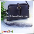 Raccoon Tail Keychain Real Fur Gift Idea Bag Accessories Fur Tails