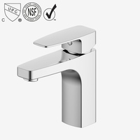 FARLO chrome plated single lever bathroom wash basin mixer