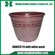 wholesale garden furniture outdoor&indoor round orchid plastic plant pots