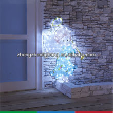 Lighted angel outdoor christmas decoration,light angel,outdoor angel light