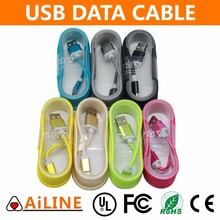 AiLINE Colorful 1.5m USB 2.0 Nylon Braided Micro USB Cable For Samsung Android Mobile Phone