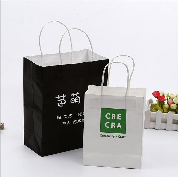 Manufacturers custom color gift shopping paper bag a4 size