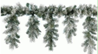 2.7m Decorative snow ice garland. christmas garland christmas tree