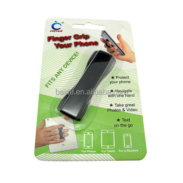 High Quality One finger text holder for iphone, Finger Grip Phone Holder
