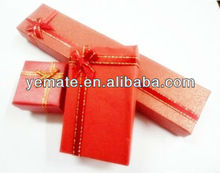 2014 new design red china box packaging with ribbon bow, travel tour packages reliance travel malaysia for women