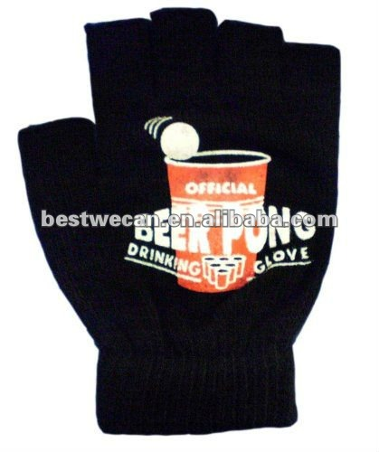 beer pong drinking glove