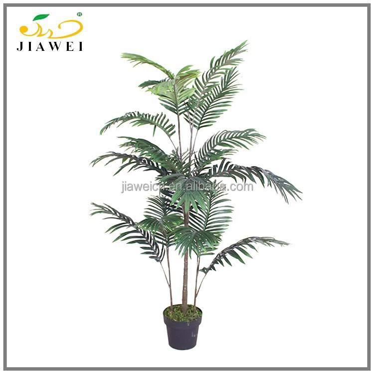 Factory best selling low price craft plastic palm trees for various decorations