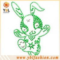 rabbit neon studs rhinestone transfer wholesale for kids clothes