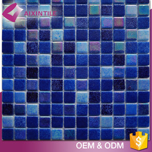 Pub Building Decorative Loose Crystal Blue Glass Mosaic Tiles