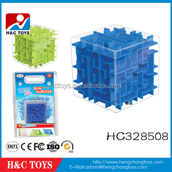 Cheaper Hot sale 3d Labyrinth Ball Maze Cube Puzzle Game For Kids HC328508