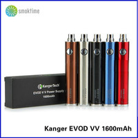 In stock!Original kanger evod vv 1600mah variable voltage kangertech evod vv twist 1600mah battery