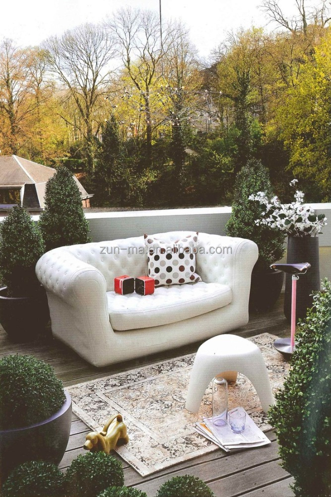 Royal outdoor self inflating sofa, luxury garden air sofas furniture