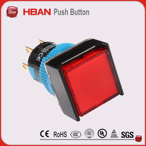 120V waterproof square push button light switch