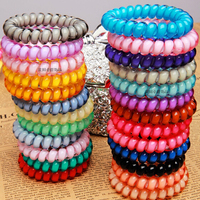 Fluorescence Colors Plastic Hair Accessory Elastic