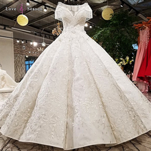 LS41096 2018 real picture show white color special satin short tassel sleeves off white two layers back skirt wedding dress
