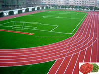 Polyurethane adhesive for mixed running track