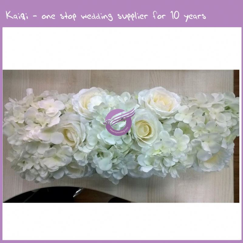 RH00250 artificial flower ivory hydrangea and rose silk flower row for wedding centerpieces