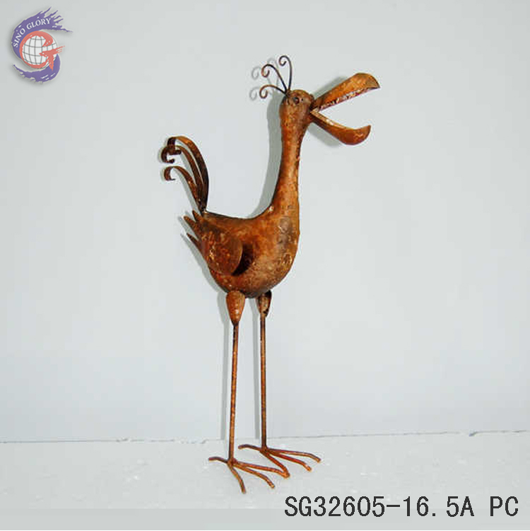 wholesale shabby chic metal handcrafts birds for antique decorative