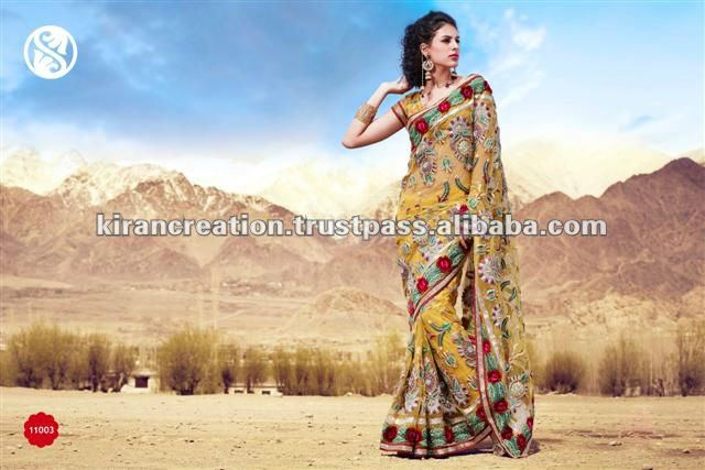 Bollywood Embroidery Designer Saree
