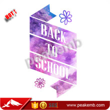 back to school custom sublimation heat transfer printing for t-shirt