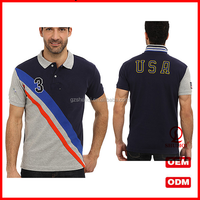 Fancy Design OEM man polo tshirt /gray polo t shirts with embroidered technology H-1488