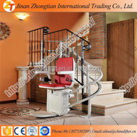 Disabled Access inclined platform curved wheelchair stair lift