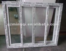 PVC sliding plate glass window prices