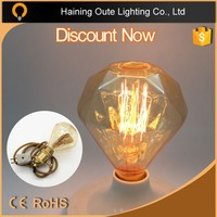 D93 Diamond Shaped E27 40W Edison Tungsten Filament Vintage Light Bulb 220V