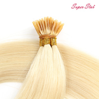 Factory Popular human hair 613# blonde color 1g/strands pre bonded I tip hair extension