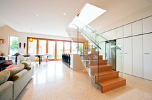 customized residential indoor stairs railings prices with tempered glass panel