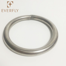 Fashion bag handbag accessory weld custom metal steel o ring buckle wholesale