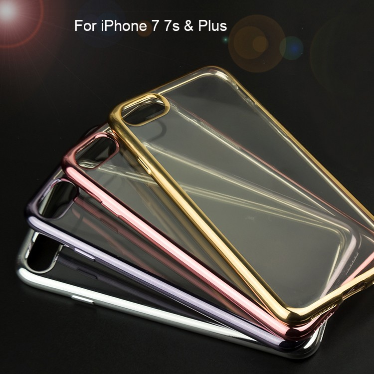 Gold Plating Cell Phone Accessory Chromed Frame Mobile Phone Case For iPhone7