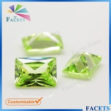 FACETS GEMS High Quality Machine Cut Cubic Zirconia Ceylon Gems Stone