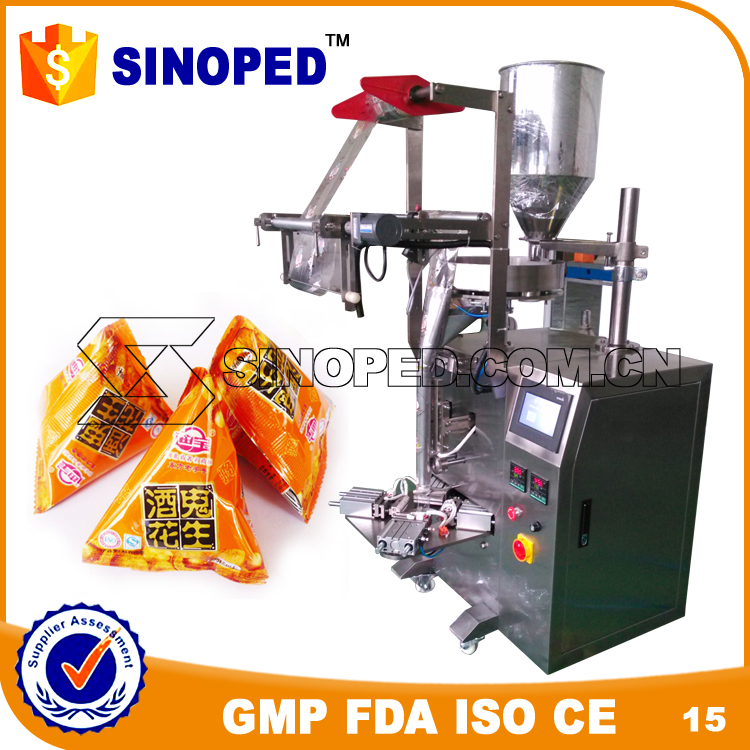 SINOPED triangular bag chocolate vertical sachet packing machine