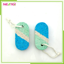 Wholesale cheap small foot file pumice with rope