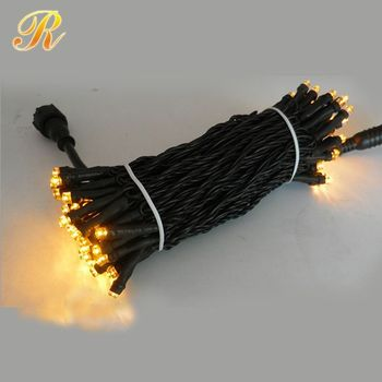 10M 100LED black wire warm string light
