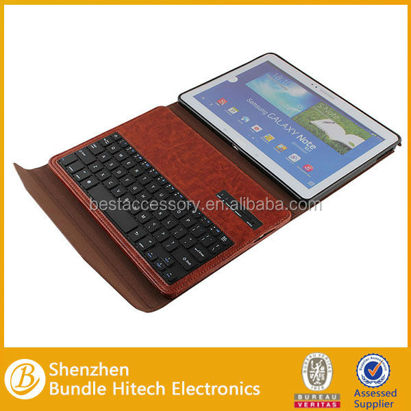 Best selling 2014 leather case for samsung galaxy note 10.1 n8000, bluetooth keyboard for samsung galaxy note 10.1