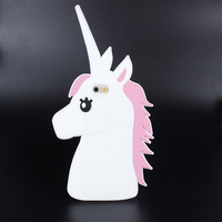New Cartoon Cute horse Silicon Creative unicorn Mobile Phone Back Cover Case For iPhone5 / 6 / 6plus