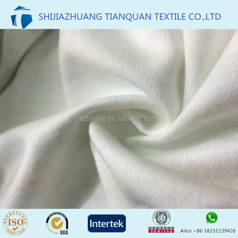 Combed!!! Ring Spun Combed Cotton Bleached Dyed Jersey/Interlock Knit Fabric 145GSM for Baby Dress Lining