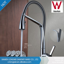 Brass single handle flexible hose china pull out kitchen faucet