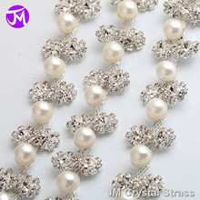 Manufacturer Sales Garment Accessories Crystal Rhinestones Pearl Chain Trims