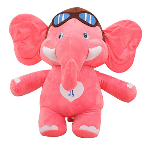 "4"" 8"" 14""Wholesale Plush and Stuffed Toys Big Ears Pink Plush Elephant"