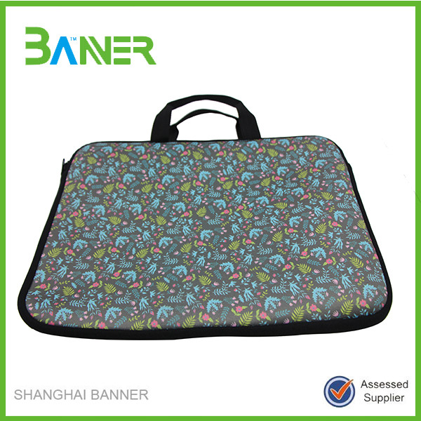 Business portable neoprene elegant laptop computer bag 15.6