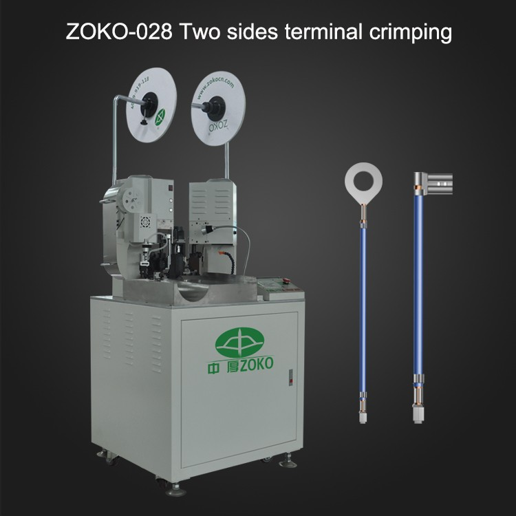 fully automatic two ends terminal crimping with com belt servo motor