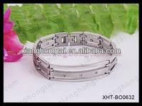 2013 wholesale slave bracelets stainless steel bracelet with strong magnet ,germanium ,negative ion and far infrared