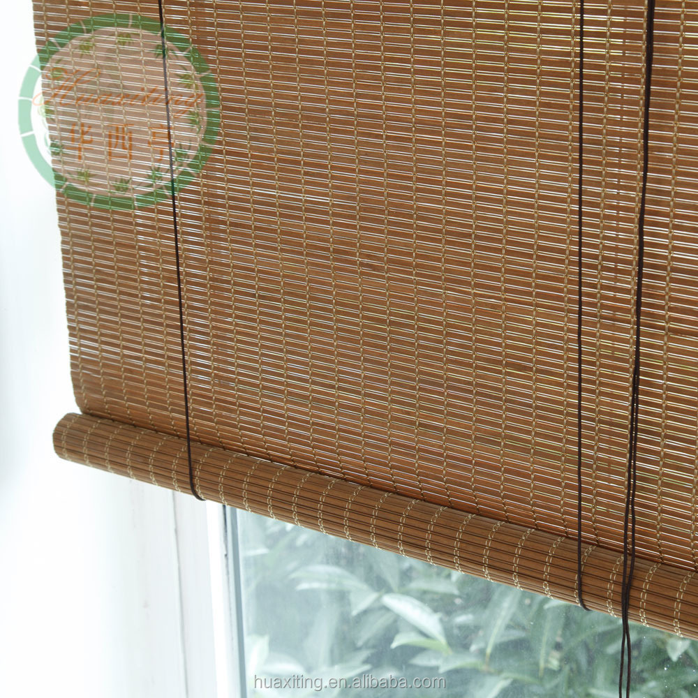 Shop Style Selections Cocoa Light Filtering Bamboo Roll Up